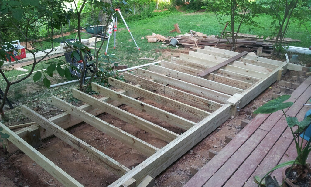 Potomac handyman services carpentry arched door for Modern view decking